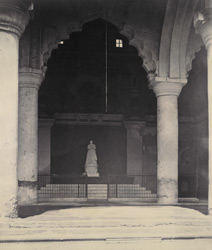 Sivaji's Statue [in the Nayaka Palace, Thanjavur.]